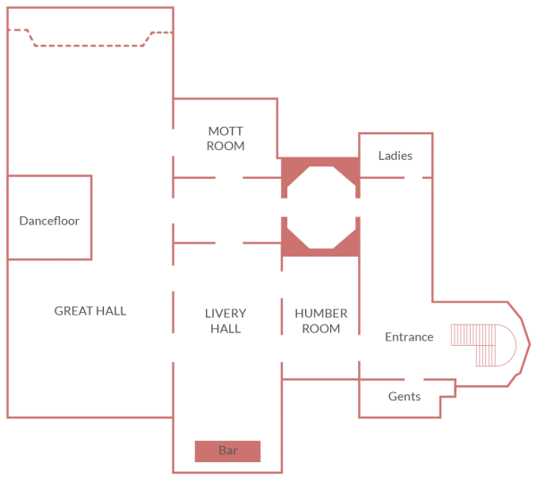 Plaisterers Hall Events Venue | Floor Plan