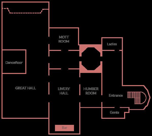 Plaisterers Hall Events Venue | Floor Plan