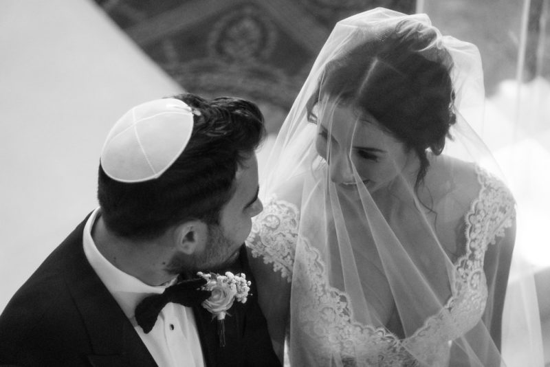 Jewish wedding in the city